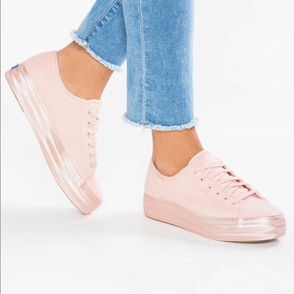 219b6e64b505 Keds Shoes | Triple Kick Shimmer Pink Platform Sneakers | Poshmark